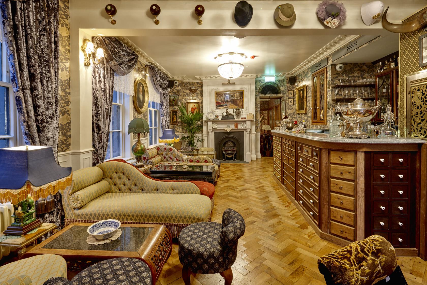 Interior shot at Foggs Gin Parlour