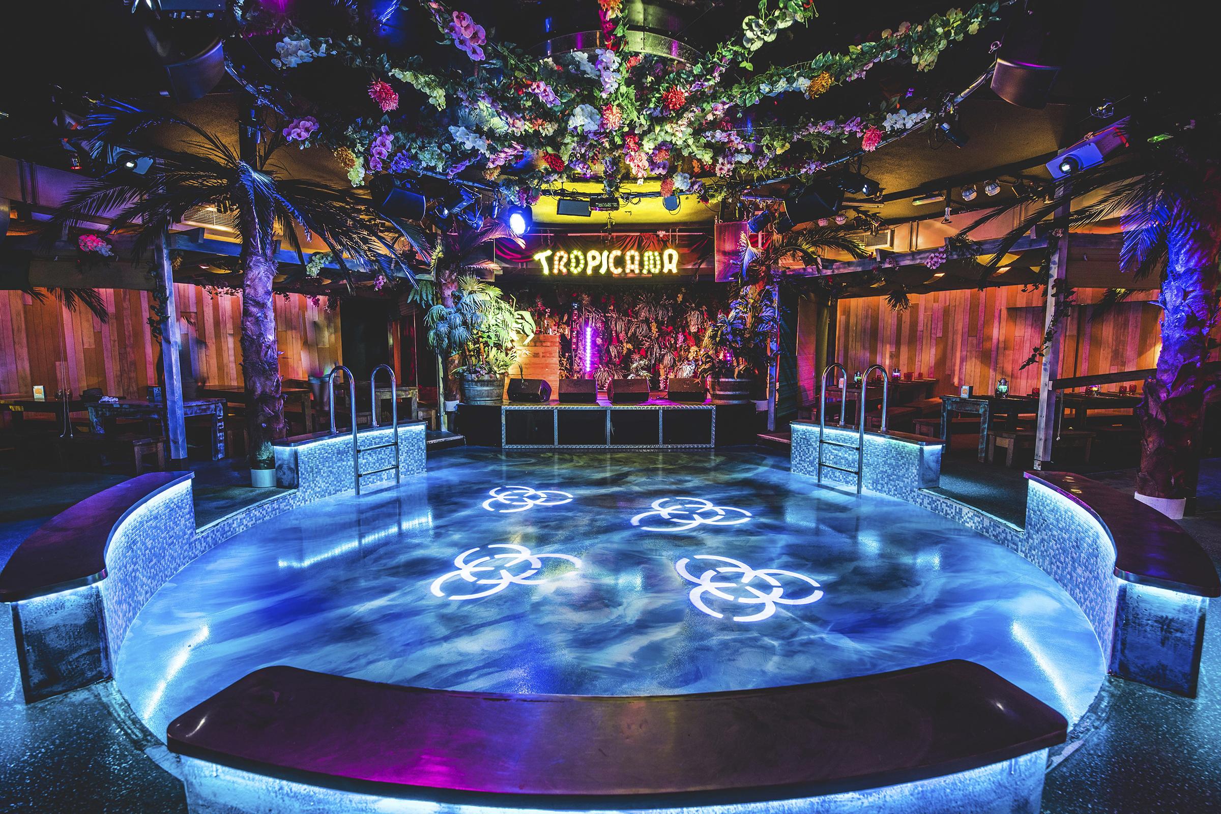 Interior shot at Club Tropicana
